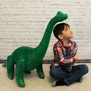 Inflatable Brachiosaurus Dinosaur green summer toy 48 inch Long