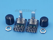 2PCS KY-040 Rotary Encoder Module Brick Sensor + Axle Plastic Button Cap