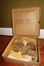 Timberland Faux Fur Beige with Gold Detail Size 6 NIB