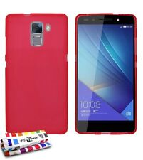 Coque souple Ultra-slim Huawei Honor 7 le Glossy Hybrid Rouge de Muzzano S