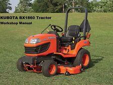 KUBOTA BX-1860 BX-2360 BX-2660 TRACTOR WORKSHOP MANUAL 390pg of Service & Repair