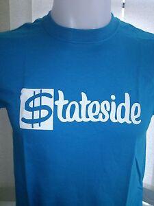 STATESIDE RECORD LABEL - BLUE 100 % COTTON T-SHIRT