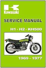 KAWASAKI Workshop Manual H1 H2 KH500 1969 1970 1971 1972 1973 1974 1975 1976 77