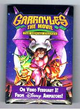 1990s Gargoyles Video Game Movie Pinback Button Heroes Awaken Disney Monsters Ad
