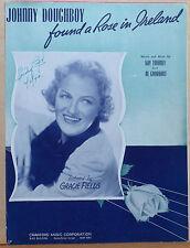 Johnny Doughboy found a Rose in Ireland - 1942 Sheet Music - Gracie Fields photo