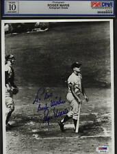 Signed 8 X 10 Yankees Roger Maris Hits 61st HR PSA DNA 10 GEM MINT
