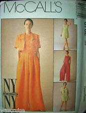 McCall 8782 Pattern UNCUT NY NY The Collection Jumpsuit Bolero Dress Size 10