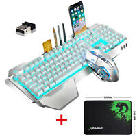 NEW XM680 Mixed 3in1 Gaming Set Keyboard Mouse and Pad 2.4G Wireless LED Backlit