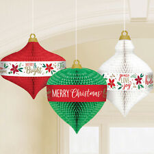 Amscan 6: Traditional Christmas Honeycomb Hanging Decorations