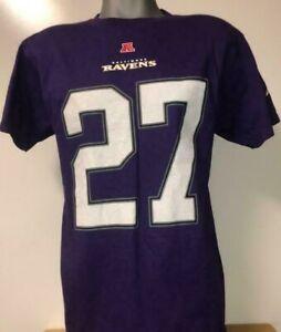 New Ray Rice #27 Baltimore Ravens NFL Team Apparel Purple T-Shirt Shirt