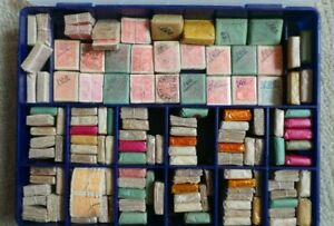 Brazil, 130 x Blocks of 100 (Reais) Stamps. Mostly Waxed Packs. Some Cotton tied