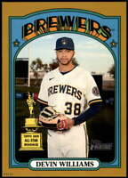 Devin Williams 2021 Topps Heritage 5x7 Gold #210 /10 Brewers