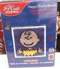 Factory Sealed J & P Coats Happy Charlie Brown Latch Hook Rug Kit