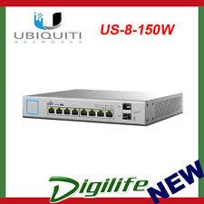 Ubiquiti Unifi Switch 8 port 150W Managed PoE+ Gigabit w/SFP US-8-150W