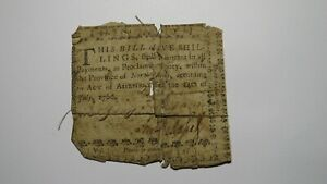 1760 Five Shillings North Carolina NC Colonial Currency Note Bill! RARE 5s!