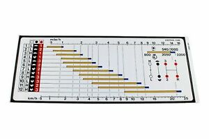David Brown Speed Chart for 1594 & 1694 Synchromesh Tractors (307618)