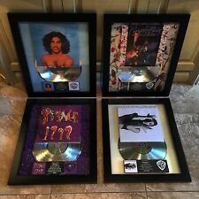 4 RARE Prince Platinum Record Album Disc Music Award Grammy MTV RIAA Purple Rain