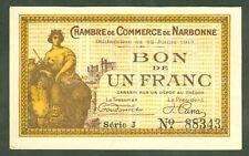 FRANCE 1 FRANC CHAMBRE DE COMMERCE DE NARBONNE  ETAT: NEUF  LOT 36