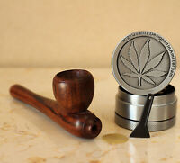 Wolf 2 Wood Pipe hand Carved smoking Tobacco Tagua Pot /& herb grinder 4 Screens