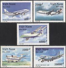 Vietnam 1996 SPECIMEN/Planes/Aircraft/Civil Aviation/Transport 5v set (s2270a)