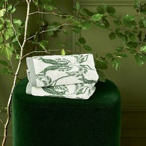 COMPLICE BY YVES DELORME FRANCE, 100% COTTON TOWEL, JACQUARD STYLISH FOLIAGE