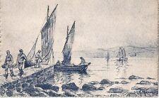 Carte Artistique Camaïeu - G. Marionez. Bonne Peche