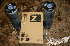 2 Riso Brand S-4254 Black Ink, Risograph Z Type Inks For RZ / MZ / EZ Series