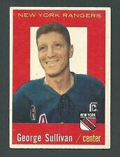 George Sullivan New York Rangers 1959-60 Topps Card #59
