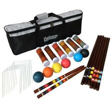 Hardwood Handles 6-Player Croquet Set with Heavy Duty Black Nylon Carrying Bag