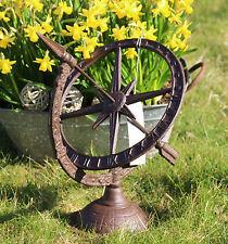 Sonnenuhr * Antik Look * römische Ziffern * Rost Look * 51 x 42  cm * mit Sockel