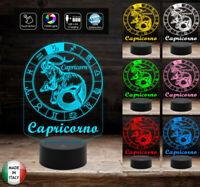 Segno zodiacale CAPRICORNO Lampada led 7 colori selezionabili a batterie o cavo