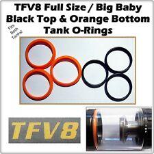 6-TFV8 BEAST / BIG BABY Tank Black Up & Orange Lwr Orings ( ORing smok O-Rings )