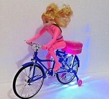 Rosa Eléctrico Bicicleta Bump & Go las luces intermitentes y sonido-Regalo Ideal Para Niñas