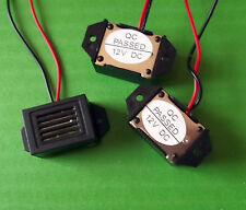 Buzzer 12 Volts Vdc Bleeper Sounder 75dB Audio + Wires  Panel SB3412HL x 2pcs