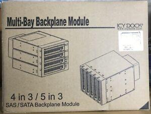 Rack ICY DOCK pour 5 disques durs SATA SAS dans un emplacement de 3 hauteurs