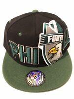 Philadelphia New Leader Philly Sideway Eagles Black Green Era Snapback Hat Cap