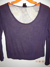 RUE21 Size S Trendy Long Sleeved Cropped Blouse Ladies Small - FREE SHIPPING
