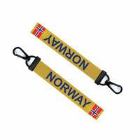 Norway Key Chain Keyring Luggage Tag Zipper Pull Bag Norwegian Key Ring
