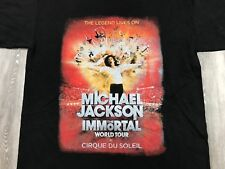MICHAEL JACKSON Immortal World Tour Cirque de Soleil Concert Music T-Shirt XL