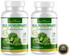 2x Sulforaphan Brokkoli Extrakt a 500mg Premium 240 Kaps Bestes Antioxydant!