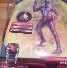 Men's Size XL 42-46 Power Rangers Red Ranger Halloween Costume Bodysuit New