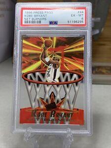 Kobe Bryant Die-Cut Rookie -- 1996 Press Pass NET BURNERS #44 PSA 6