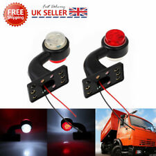 2PCS 12V Led Side Marker Lights Elbow Rubber Outline Rear Trailer Truck Lorry