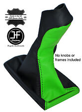 BLACK & GREEN LEATHER MANUAL GEAR KNOB GAITER COVER FITS MERCEDES E CLASS W211