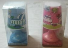 Set of 2 Mitzvah Kinder Night Lamps Blue & Pink Boys and Girls Set by Chazak New