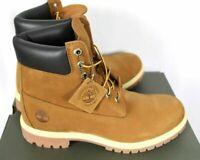 """Timberland Mens Premium 6"""" W/P Nubuck Leather Rust Boots Sz 9.5W NIB TB072066"""