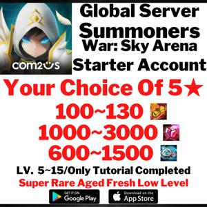 [Global] 120~150 Summons NAT 5 Summoners War Starter Account