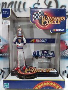 Hasbro NASCAR Winner's Circle 1998 Dale Earhardt Jr. Figure w/Trophy & #3 Car