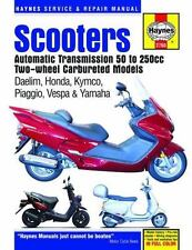 Haynes Service Repair Manual SCOOTERS Automatic Transmission 50 to 250cc 2 wheel