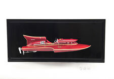 "Arno Ferrari Hydroplane Half Hull Model 18.5"" Wooden Racing Power Speed Boat New"